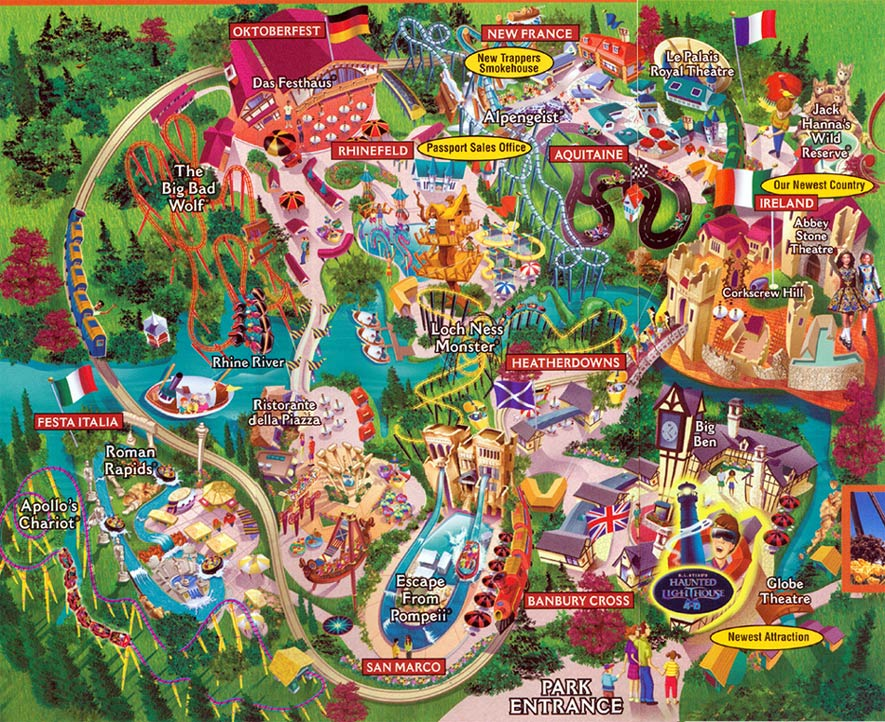 Back From The Dead Theme Park Map Day DCs - Bush gardens park map