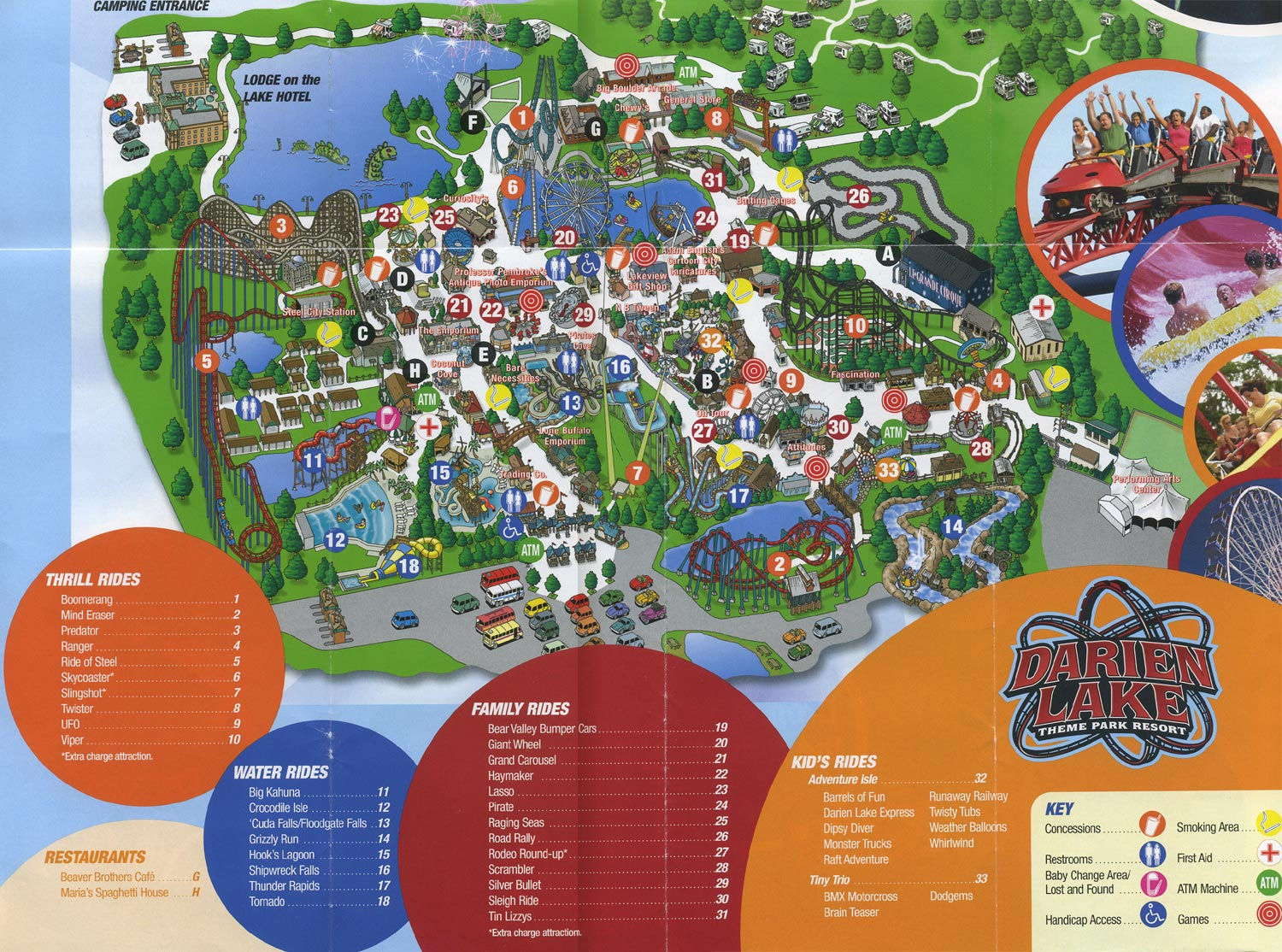 darien lake campground map Back From The Dead Theme Park Map Day Dc S darien lake campground map