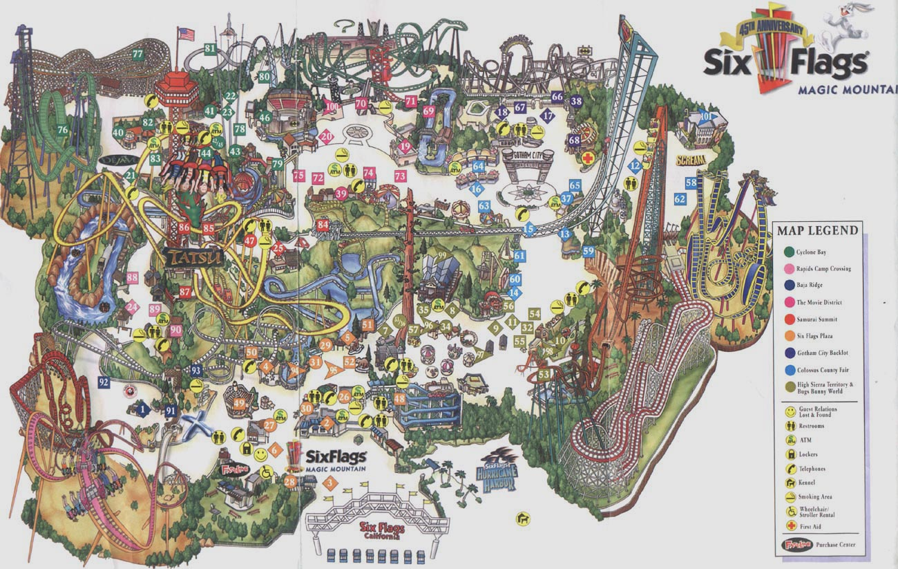 Back from the dead: Theme Park Map Day – DC's Darien Lake Map on